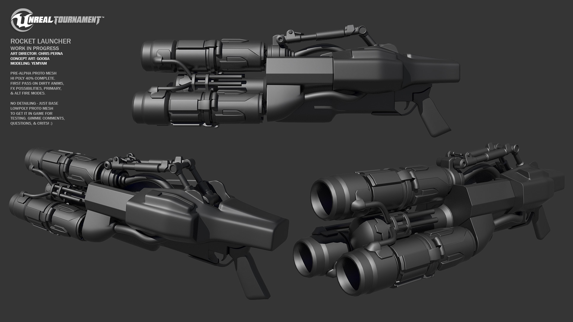 First Rocket Launcher WIP Images - Unreal Carnage